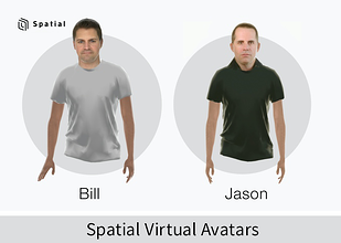 3D Avatars created in Spatial
