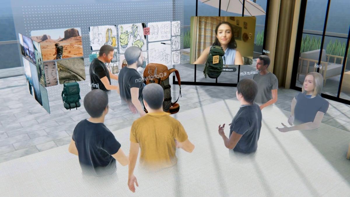 Spatial 3D Virtual Meeting Room