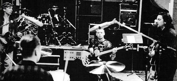 U2 Collaborating in Studio