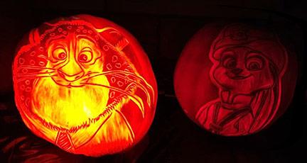 Carolyn's Carved Pumpkins