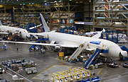 Image of Boeing aircraft in hangar